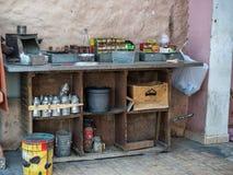 Outdoor tea kitchen in Sharm El-sheikh Sinai royalty free stock image