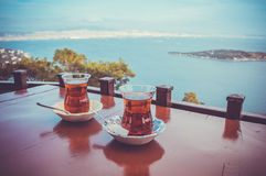 Outdoor tea Royalty Free Stock Images
