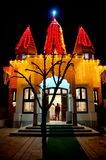 Outdoor temple Night View in Indian Village. Beautiful Background Outdoor temple Night View in Indian Village Royalty Free Stock Photography