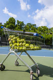 tennis balls outdoor Royalty Free Stock Photography
