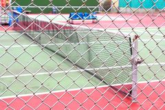 Outdoor tennis court Royalty Free Stock Photography