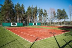 Outdoor tennis court Stock Photography