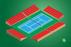 Outdoor tennis court green background Stock Images