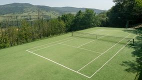 Tennis court in the hills. Outdoor tennis court in the hills of Lazio, Italy royalty free stock image