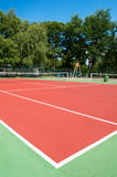 Outdoor tennis court. With nobody Stock Image