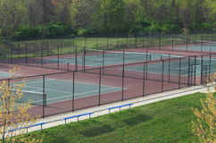 Outdoor Tennis Courts Royalty Free Stock Photo