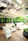 Outdoor terrace Stock Photography