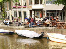 Outdoor terrace. Amsterdam Royalty Free Stock Photography