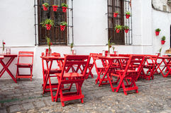 Outdoor terrace in andalusia Stock Photos