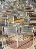 Outdoor terrace of a cafe Royalty Free Stock Images