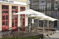 Outdoor Terrace of restaurant Royalty Free Stock Image