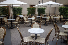 Outdoor terrace of restaurant Stock Images
