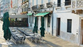 Outdoor terrace in Venice Royalty Free Stock Photography
