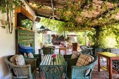 Outdoor Thai restaurant stock images