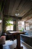 In outdoor Thai restaurant. In outdoor restaurant in chiangmai Thailand stock photos