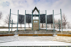 Free Outdoor Theater Closed For The Season Winter Stock Images - 28867304