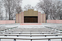 Outdoor theatre in winter Royalty Free Stock Photos
