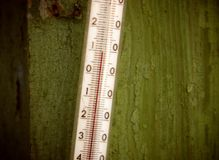 Outdoor Thermometer Royalty Free Stock Photography