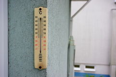 Outdoor thermometer Royalty Free Stock Image