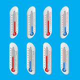 Outdoor Thermometer. Hot and cold temperature. Flat 3d vector isometric illustration Royalty Free Stock Images