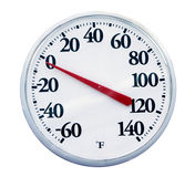 Outdoor Thermometer. Isolated Royalty Free Stock Photos