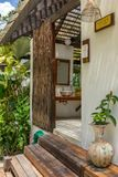 Outdoor toilet in tropical resort. In Thailand Royalty Free Stock Photography