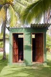 Outdoor toilets big corn island farm nicaragua Stock Photography