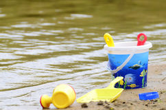 Outdoor toys. For kids at the beach Stock Image