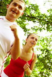 Outdoor training Stock Images