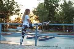 Outdoor training and workout royalty free stock photo