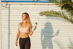 Outdoor training and workout stock image