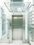 Outdoor transparent elevator Royalty Free Stock Image