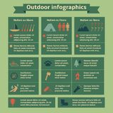 Outdoor Travel Infographic Elements Stock Photography