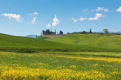 Outdoor Tuscan hills landscape Royalty Free Stock Photos