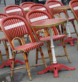 Outdoor typical cafe Paris France Stock Photography