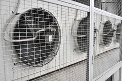 Outdoor Unit of Air Conditioner Royalty Free Stock Photos
