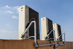 Outdoor Unit of Air Conditioner Royalty Free Stock Photography