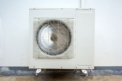 Outdoor Unit of Air Conditioner Stock Photo