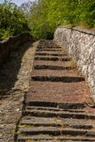 Outdoor Uphill Staircase Royalty Free Stock Image