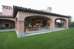 Outdoor Veranda Room And Lawn Royalty Free Stock Photos