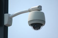 Outdoor video security surveillance cctv camera Royalty Free Stock Photo