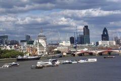 Outdoor view, Blackfriars Bridge, River Thames, UK Stock Images