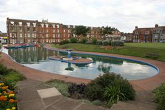 Outdoor view of a boating pond in Eastbourne, East Sussex, England Royalty Free Stock Photo