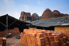 Outdoor view brick kilns Stock Photo