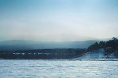 Frozen Lake Baikal. Winter. Stock Images