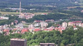 Outdoor view of Karlovy Vary stock video footage