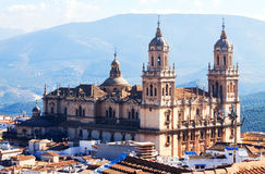 Outdoor view of Renaissance style Cathedral in Jaen Stock Photo
