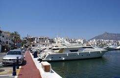 Outdoor view of the yacht club of Marbella, Andalusia, Spain, Europe. Stock Photos