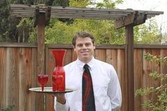 Outdoor Waiter Royalty Free Stock Photo