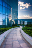 Outdoor walkway at the Revel Hotel Casino in Atlantic City, New Royalty Free Stock Photos